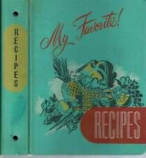 George Seelman, Sons / MY FAVORITE RECIPES 1949 Food & Beverages