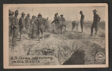 New listing 1916 El Paso TX Postcard US Army Intrenching in Old Mexico + Expo Cancel