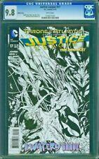 JUSTICE LEAGUE 17 CGC 9.8 Sketch Batman Johns Reis 2013