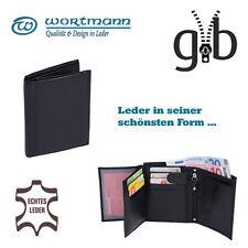 Kombigeldbörse aus hochwertigem Leder, Mittelreißverschluss | TOSCANA | schwarz