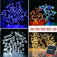 100-500 LED Solar Powered Fairy Lights String Garden Outdoor Party Wedding Lamp