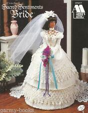 Sacred Sentiments Bride Wedding Crochet Fashion Doll Dress Clothing Pattern NEW