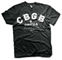 CBGB & OMFUG Logo Punk Rock Musik Club New York Männer Men T-Shirt Schwarz