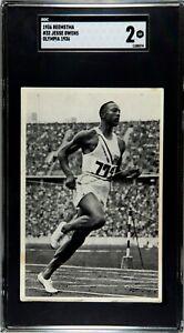 1936 Reemstma #32 JESSE OWENS Olympic Rookie RC Good (GD) SGC 2
