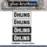 ÖHLINS Aufkleber 4-teilig Farbauswahl Motorrad Bike Sticker Dekor Decal Feder