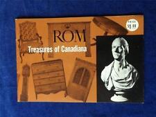 ROYAL ONTARIO MUSEUM TORONTO CANADA TREASURES OF CANADIANA ROM BROCHURE EXHIBITS