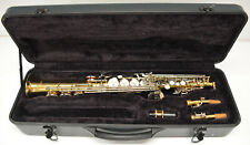 USED MELODY SOPRANO SAX WITH STRAIGHT AND SLIGHTLY CURVED NECKS