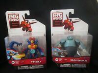 BIG HERO 6 FIGURES - Baymax  AND Fred  BRAND NEW - RARE