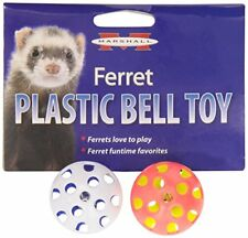 MARSHALL PET FERRET PLASTIC TOY BALL WITH BELL 2 PACK. FREE SHIP TO THE USA