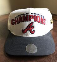 VINTAGE Starter 1995 Atlanta Braves World Series Snapback Hat w/ Hologram Stains