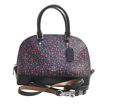 COACH MINI SIERRA SATCHEL CROSSBODY BAG COATED CANVAS RANCH RED FlORAL F59443