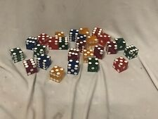 21 Authentic Horsehoe Casino Used Dice Random Various Colors