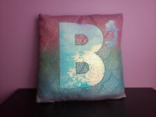 Letter B Justice Mermaid Sequin Pillow
