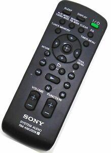 Genuine Sony RM-AMU009 Audio Remote CMT-BX20I CMT-BX50BTI CMT-FX300I CMT-BX70DBI