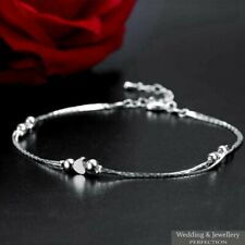 Fashion Ankle Bracelet Women 925 Sterling Silver Anklet Foot Jewelry Chain Beach