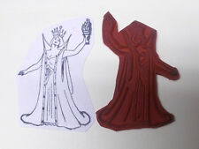Queen rubber stamp Sorceress witch pagan goddess medieval people unmounted