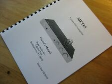 Rogue Audio Metis Preamplifier Owners Manual
