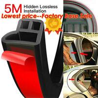 5M Trim Moulding Hood Car Door Edge L Shape Rubber Weatherstrip Seal Strip