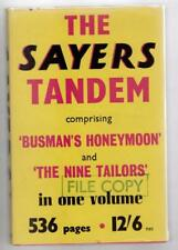 The Sayers Tandem by Dorothy L.Sayers (First Edition) Omnibus 2 Novels, File ...