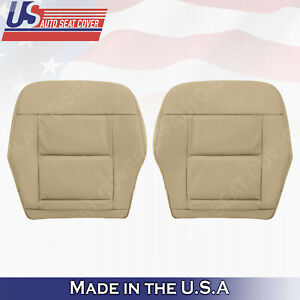 Fits 2010 to 2013 Mercedes Benz E350 Driver Passenger Bottom Leather Cover Tan