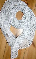 Pronto Moda  Acc.Tuch Schal Petit Dot Scarf  White/Blue  Cotton/Silk  Neu