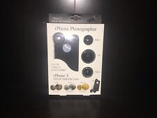 Apple iPhone 4 5 5s Photographer CPL + Fisheye + Macro Add on photo pic Lens Kit