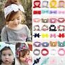 Elastic Babys Headdress Kids Hair Band Girls Bow Knot Newborn Headband Head Wrap