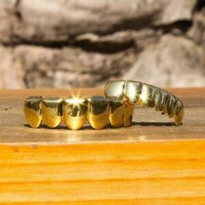 Hip Hop Teeth Grillz Set Top Bottom Mouth Teeth Fashion Removable Dental Jewelry