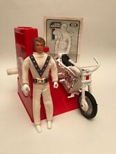 ORIGINAL 1973 2ND RELEASE ISSUE EVEL KNIEVEL STUNT CYCLE MOTORCYCLE & ENERGIZER
