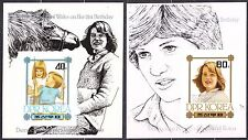 KOREA Pn. 1982 MNH** SC#2179/80 set s/s, Princess Diana, 21st Birthday. Imp.