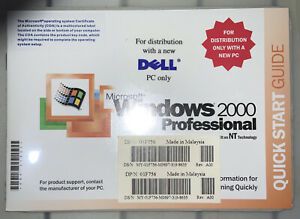 Vintage Sealed Microsoft Windows 2000 Professional OS With SP2 CD For Dell