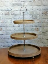 Wooden Tiered Tray. Farmhouse 3 Tier Tray Stand. Triple Tiered Cake Tray.