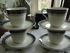 ROYAL DOULTON SHERBOOKE 4 CUPS AND 4 SAUCERS