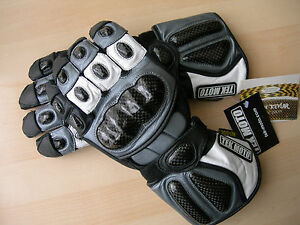 Motorcycle Gloves Leather Carbon Fiber Gauntlet half cost of Icon REV'IT!