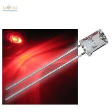 500x LED 5mm cóncavas Rojo con Accesorio Rojo Cóncavo LED