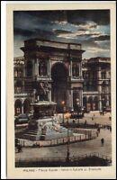 Milano Mailand Italien Postkarte 1926 Piazza Duomo Imbocco Galleria V. Emannuele