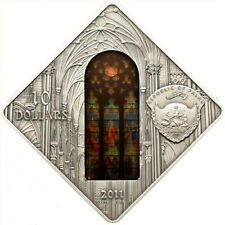 Palau 2012 10$ SAINT PATRICK CATHEDRAL New York Holy Windows Silver Uncirculated