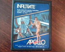 Game Cartridge Program Atari Apollo Infiltrate 1982 Atari Video Computer System