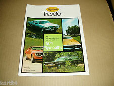 1971 Plymouth Road Runner Barracuda Satellite Fury sales brochure magazine