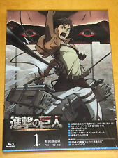 Blu-ray Attack on Titan vol.1 Limited Edition with Unpublished Comic Book vol.0
