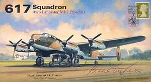 AV600 WW2 617 Squadron AVRO Dambuster Lancaster RAF cover signed KEN TRENT DFC