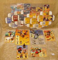LEGO Sets: 6004 Cart,2848 Knight,2871 Diver,6800 Cyber,2846 Kayak,2872 Witch BOX