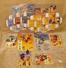 Conjuntos de LEGO: carro de 6004, 2848, 2871, 6800 Diver Caballero Cyber, 2846 Kayak, 2872 Caja De Bruja