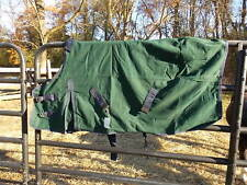Hunter Green With Navy Binding Canvas Horse Sheet Size 54 Color Darker Green