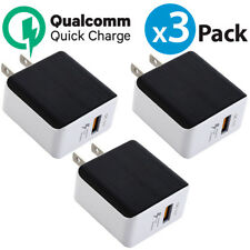 3x USB Wall Charger QualComm QC3.0 Quick Charger For iPhone X Samsung Galaxy S9+