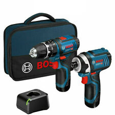 Bosch 12v GSB GDR-105 Impact Driver / Drill Twin Kit With 2 x 2.0Ah Batteries
