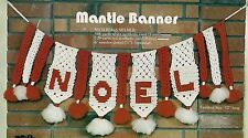 Noel Mantle Banner Pattern #GM16 Deck the Halls with Macrame - 1970s Wall Decor