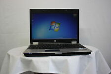 "barato portátil HP EliteBook 8440p 14.1"" Core i5 4gb 250GB Webcam Windows 7"