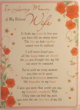 Memorial Grave Card In loving memory of my beloved Wife 16.5cm x 12cm Waterproof