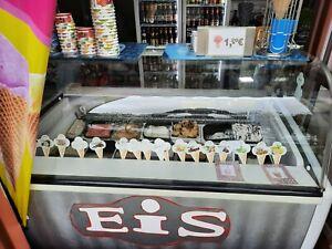 Speiseeisvitrine 10 x 5 Liter Eistheke Eisvitrine für 10 Eisschalen